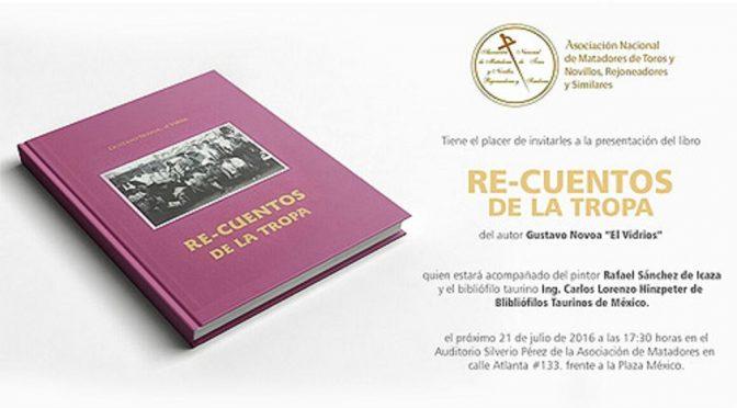 """Presentarán el libro """"Re-cuentos de la tropa"""""""