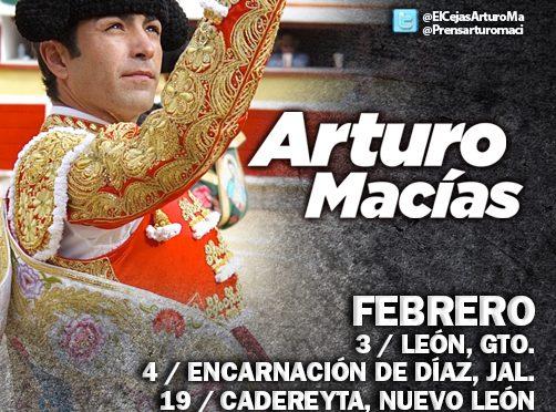 Un febrero muy activo para Arturo Macías