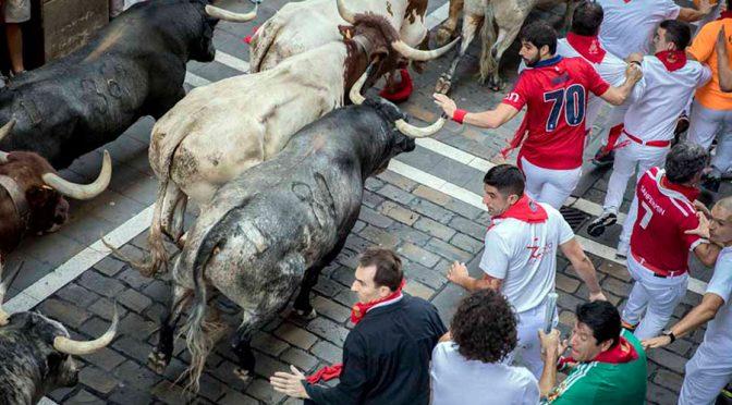 Peligroso el primer encierro en Pamplona…(Video)