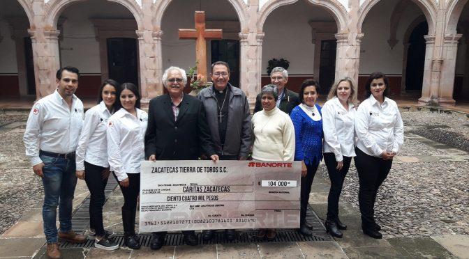 La solidaridad de la afición zacatecana entregada a Cáritas