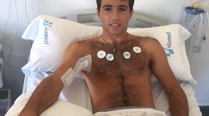 """Rafael Serna: """"He pasado la noche muy dolorido, aunque sin fiebre"""""""