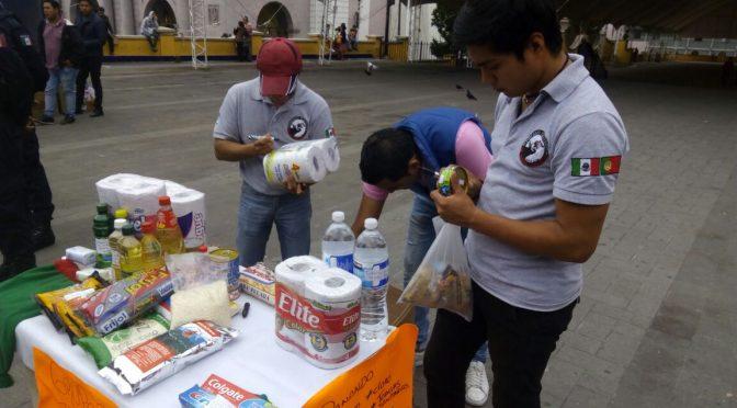 Forcados Teziutecos instalan centro de acopio…(Fotos)