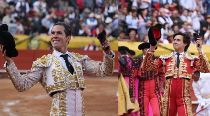 Diego Silveti y Roca Rey pasean oreja en cierre de Pachuca