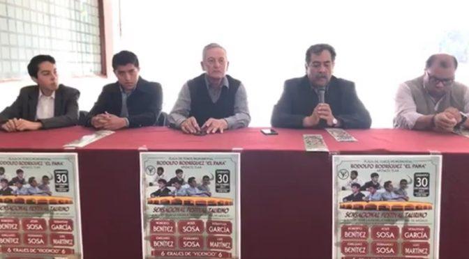 Presentan festival de la escuela taurina de Apizaco