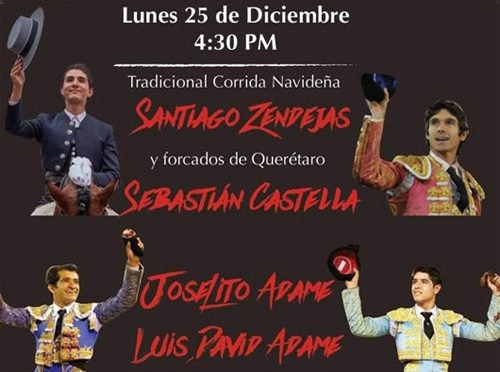 Dan a conocer cartel para Corrida Navideña en Querétaro
