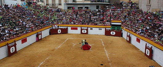 Tres mexicanos en Algemesí en la semana de Bous