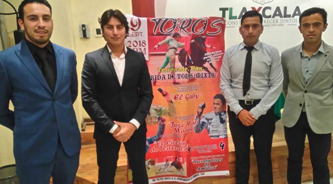 Presentan cartel para corrida mixta de feria en Terrenate