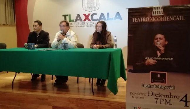 PASCUAL NAVARRO CANTARÁ EN EL TEATRO XICOHTÉNCATL ESTE 4 DE DICIEMBRE