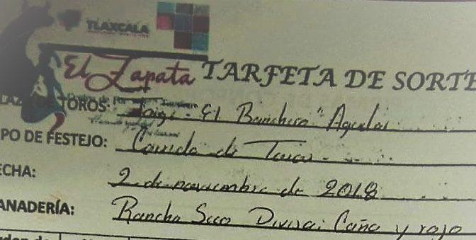 Sortean los de Rancho Seco para la primera corrida de Tlaxcala