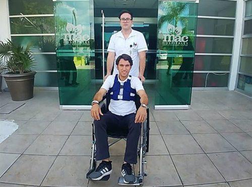 Fabián Barba es dado de alta del Hospital MAC